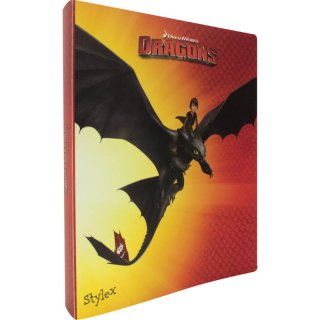 DreamWorks DRAGONS Ringbuch, Orange/Rot