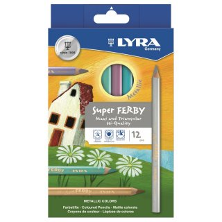 LYRA 12 Super FERBY Farbstifte METALLIC