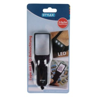 STYLEX Lupe mit LED-Beleuchtung