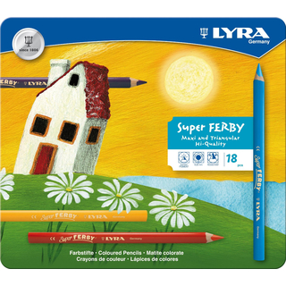 LYRA 18 Super FERBY® Buntstifte im Metalletui