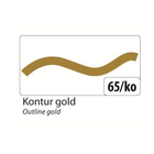 folia Window Color 80 ml Kontur, Gold