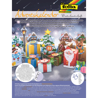 folia Adventskalender Winterlandschaft 25-teilig