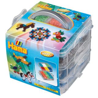 Stiftplatte und Zubehör 8741 Hama Maxi Bügelperlen Set BOX 600 Perlen